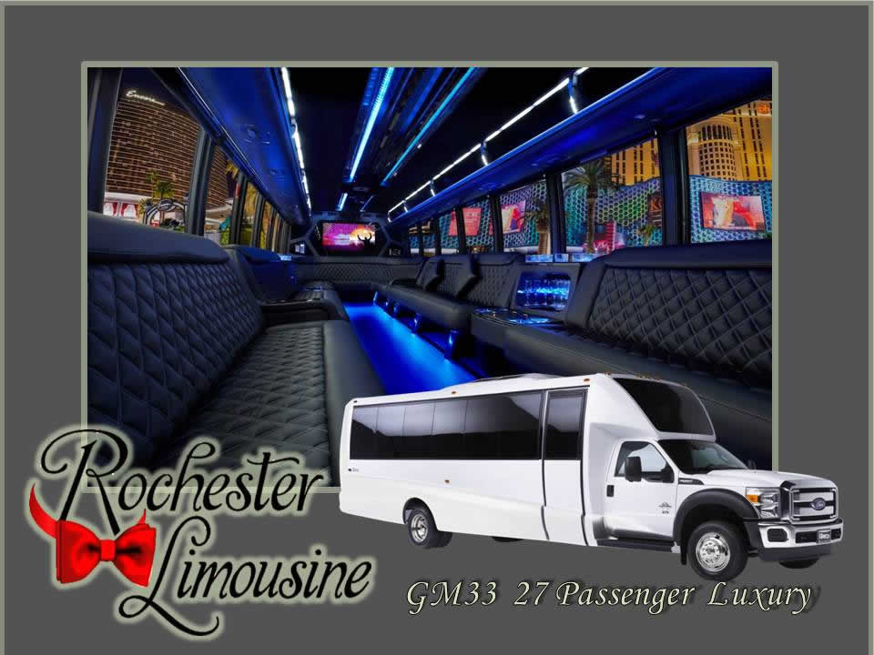27 Passenger Luxury Limo Bus